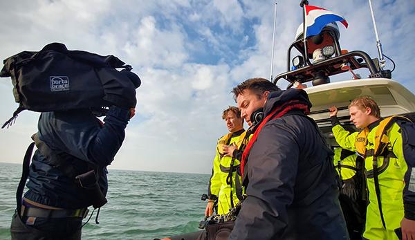 Filmopnamen vanaf het water