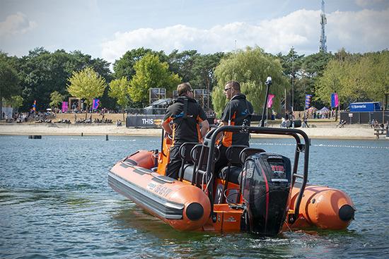 Safetyboat bij een evenement